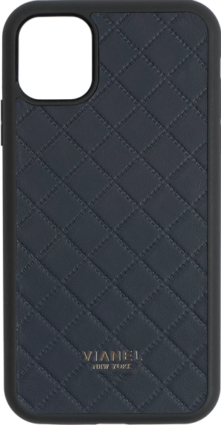 iPhone 11 Pro Flex Case - Lambskin - Navy Quilted