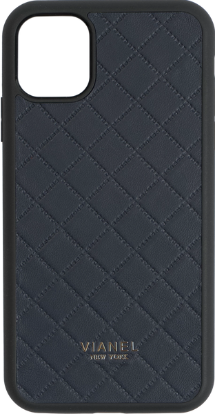 iPhone 11 Flex Case - Lambskin - Navy Quilted