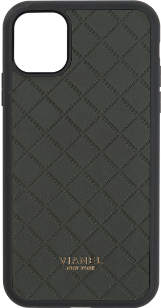 iPhone 11 Flex Case - Lambskin - Forest Green Quilted