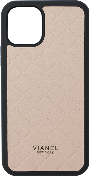 iPhone 11 Pro MAX Flex Case - Lambskin - Blush Quilted