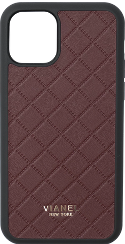 Lambskin / Wine Quilted / More than 10 letters