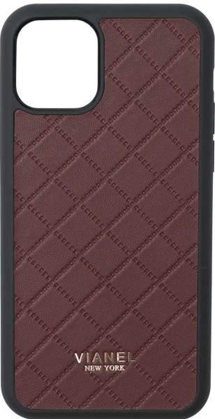 iPhone 11 Flex Case - Lambskin - Wine Quilted
