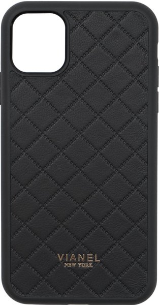 iPhone 11 Pro Flex Case - Lambskin - Black Quilted