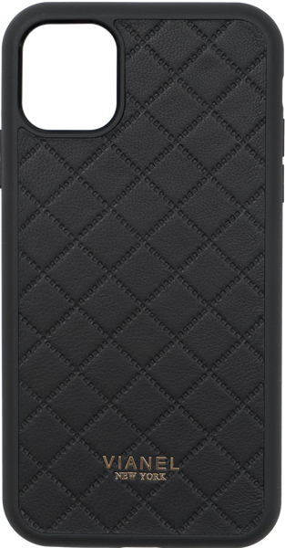 iPhone 11 Flex Case - Lambskin - Black Quilted