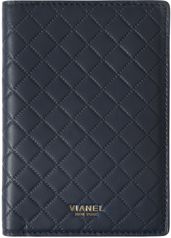 Lambskin / Navy Quilted