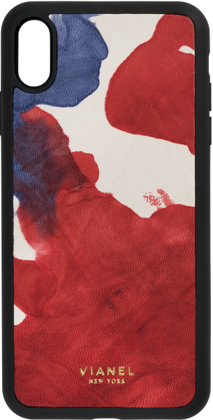 iPhone X and Xs Flex Case - Calfskin - Blue Red Tie Dye
