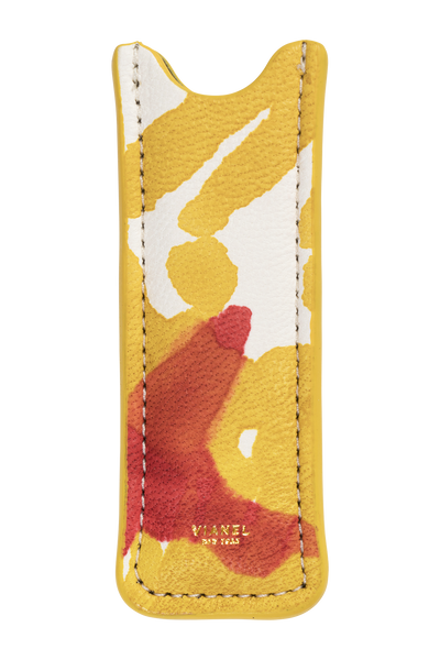 Vape Case - Calfskin - Yellow Red Tie Dye