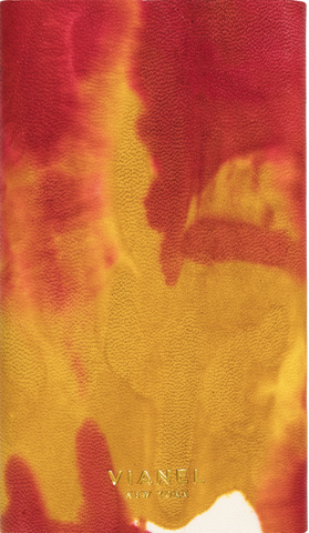 Calfskin / Yellow Red Tie Dye