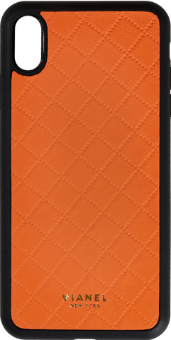 Lambskin / Orange Quilted / Less than 10 letters