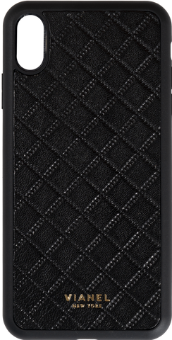 Lambskin / Black Quilted / More than 10 letters