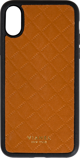 iPhone X and Xs Flex Case - Lambskin - Tan Quilted