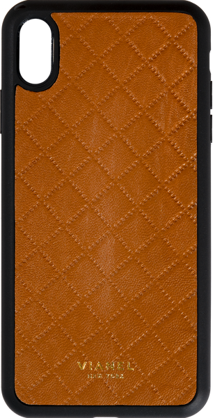 iPhone Xs MAX Flex Case - Lambskin - Tan Quilted