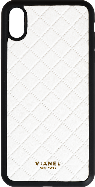 iPhone Xs MAX Flex Case - Lambskin - White Quilted