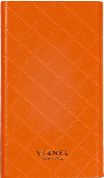 Lambskin / Orange Quilted | Front