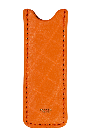 Vape Case - Lambskin - Orange Quilted