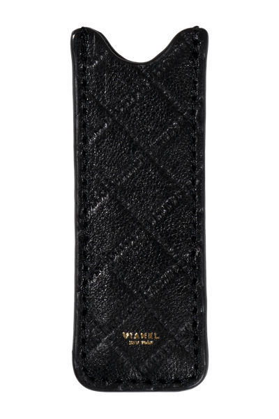 Vape Case - Lambskin - Black Quilted