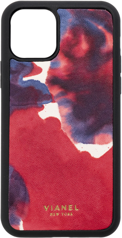 Calfskin / Blue Red Tie Dye / Less than 10 letters