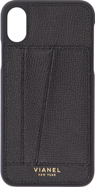 Card Holder iPhone X and Xs Case - Calfskin - Black