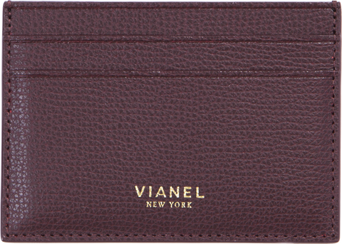 V3 Card Holder - Calfskin - Oxblood