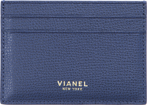 V3 Card Holder - Calfskin - Dark Blue