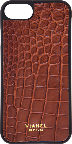 iPhone 7 and 8 Case - Alligator - Brown