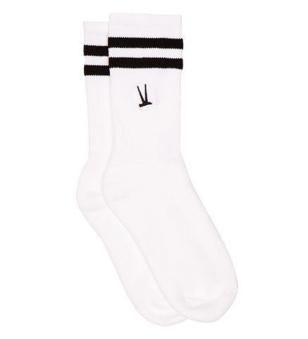 Crew Sock / White With Black