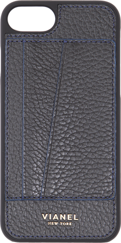 Calfskin / Black With Blue | Front