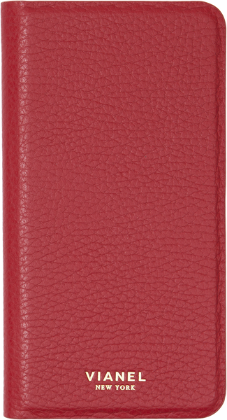 Folding iPhone 7 and 8 Case - Calfskin - Red