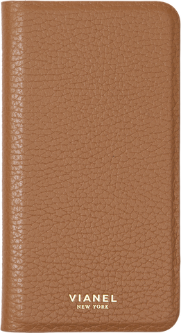 Folding iPhone 7 and 8 Case - Calfskin - Tan