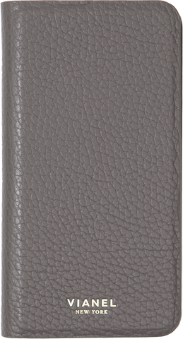 Calfskin / Grey / More than 10 letters