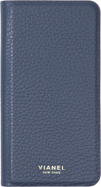 Folding iPhone 7 Plus and 8 Plus Case - Calfskin - Navy