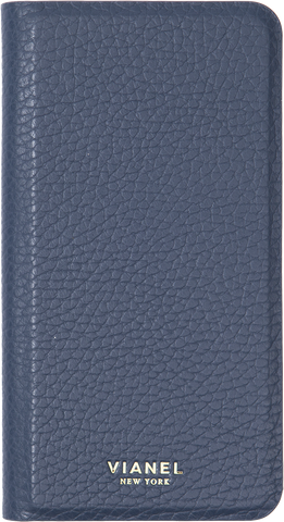 Calfskin / Navy / More than 10 letters