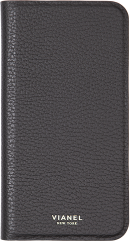 Folding iPhone 7 Plus and 8 Plus Case - Calfskin - Black