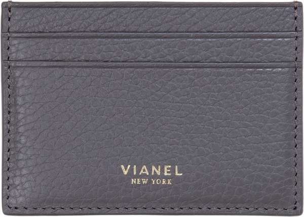 V3 Card Holder - Calfskin - Grey