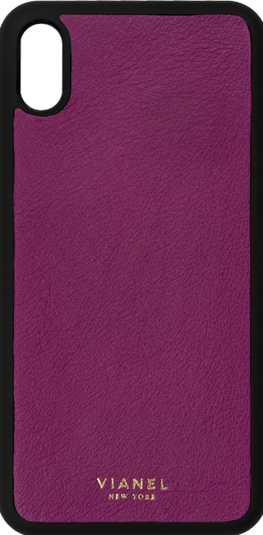 iPhone Xs MAX Flex Case - Calfskin - Orchid