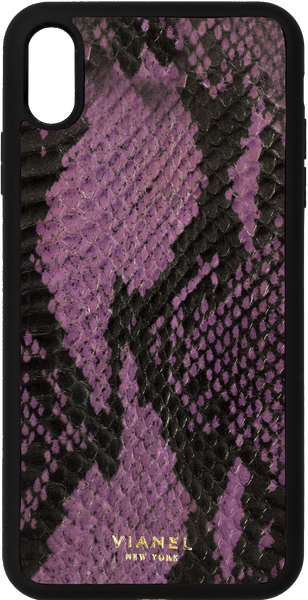 iPhone Xs MAX Flex Case - Snake - Purple With Black