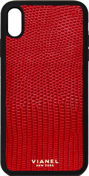 iPhone Xs MAX Flex Case - Lizard - Red