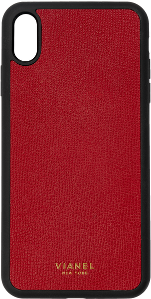 iPhone Xs MAX Flex Case - Calfskin - Red