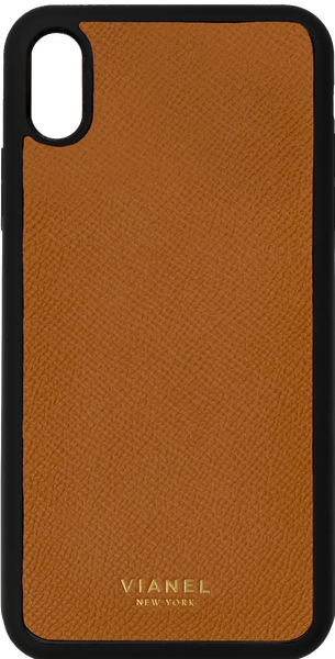 iPhone Xs MAX Flex Case - Calfskin - Tan