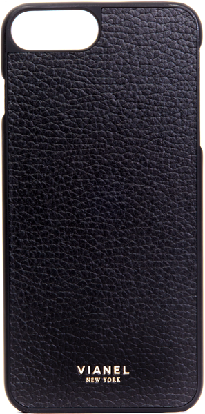 iPhone 7 Plus and 8 Plus Case - Calfskin - Black