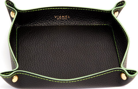 Calfskin / Black With Lime Green