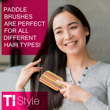 Paddle brushes are perfect for all different hair types!