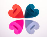 Heart Shaped Soft Silicone Facial Scrubber Multi Color 4 Pack