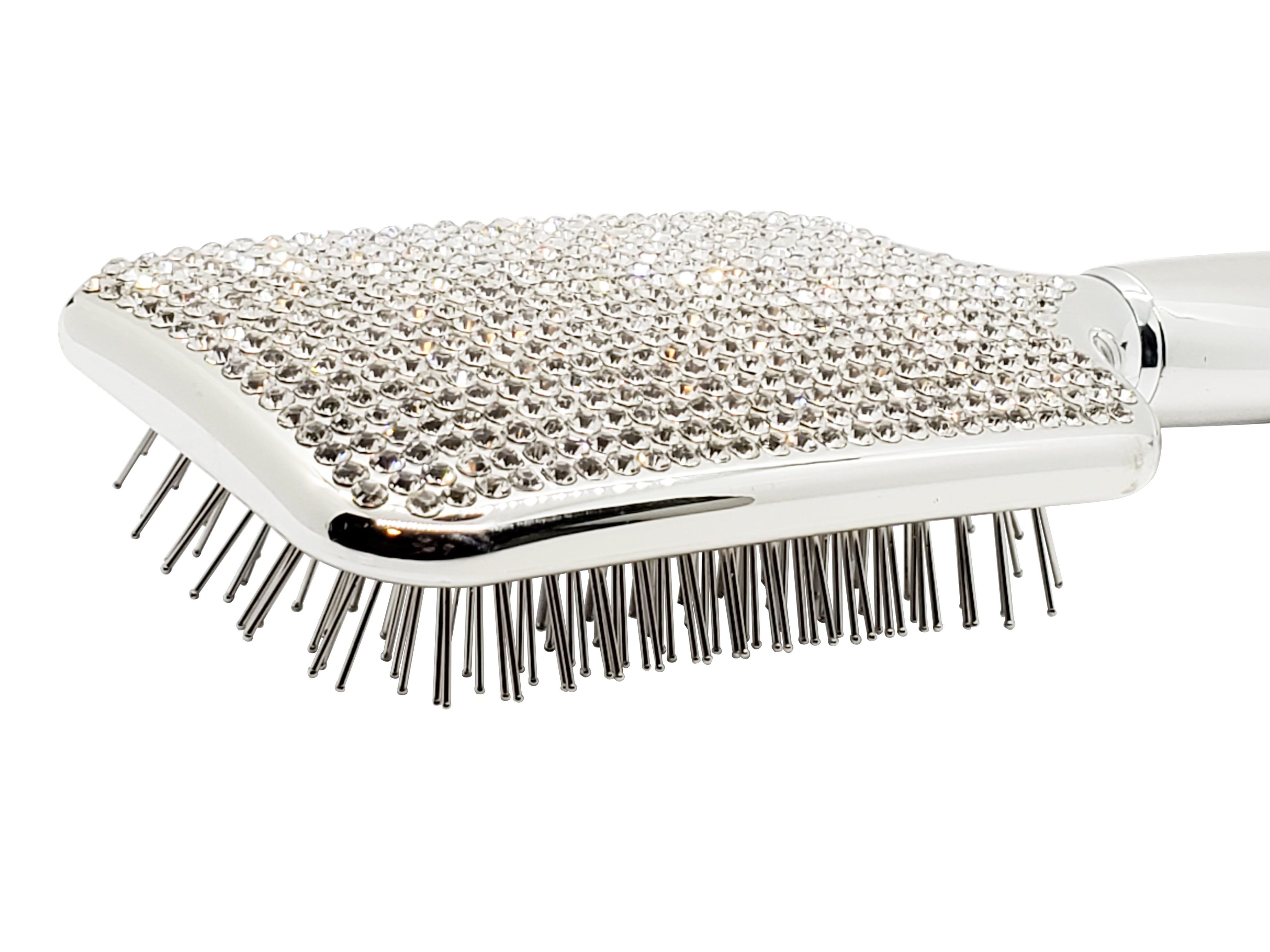 Silver Bling Paddle Brush
