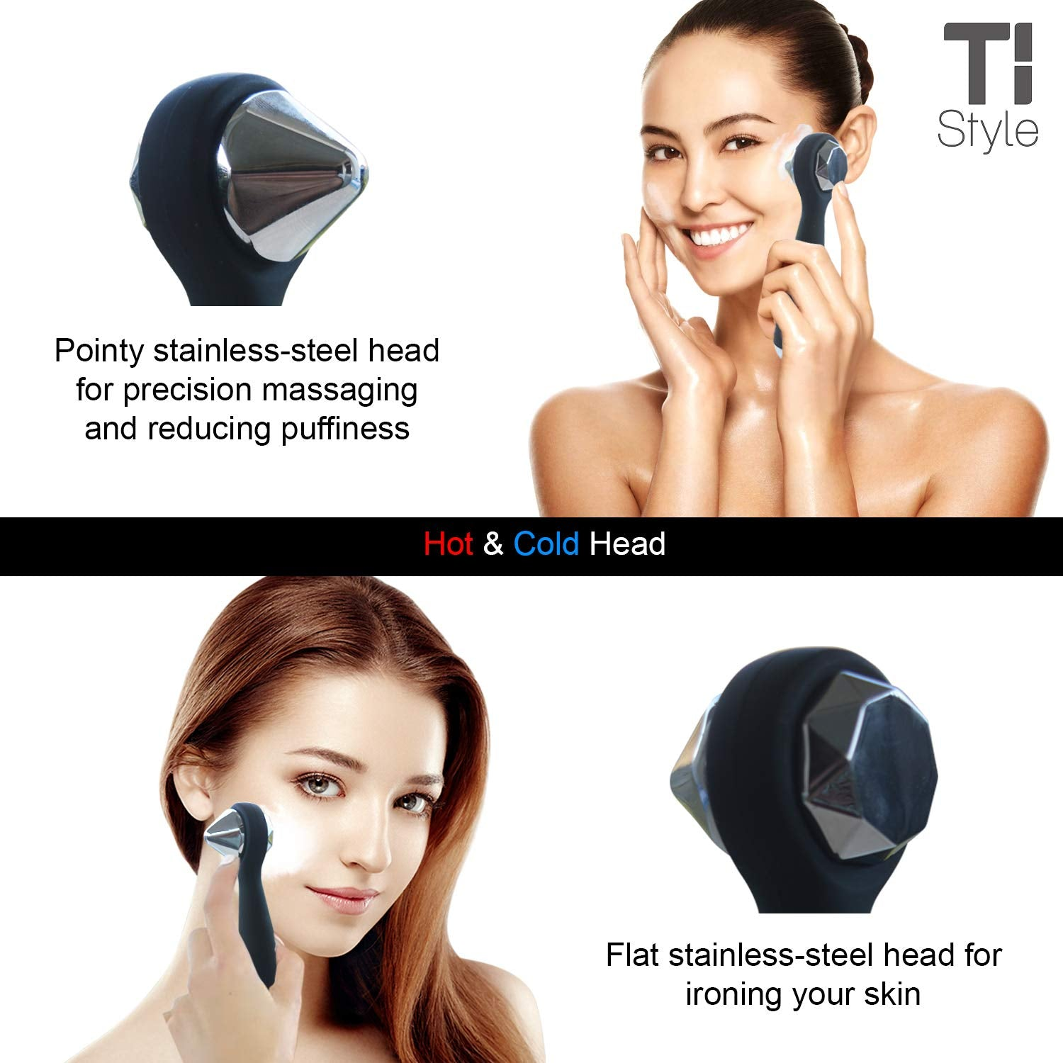 4 in 1 Silicone Facial Cleansing Brush and Electric Massager