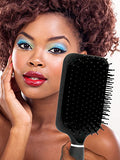 Black Paddle Brush with Large Mirror