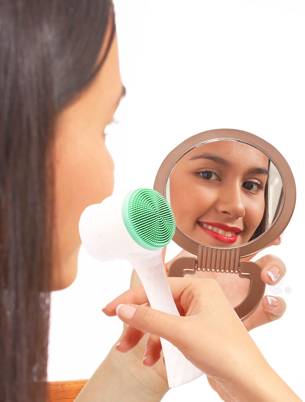 Mint Double Sided Facial Brush