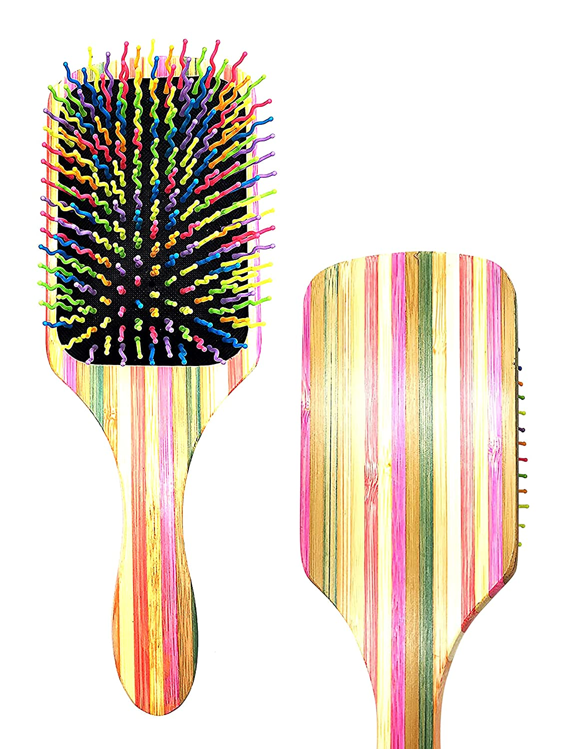 Rainbow Wiggle Pin Volume Brush