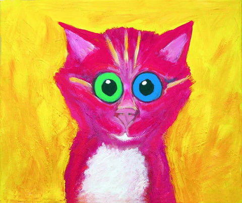 CANDY  Signed Print of Colorful Cat Painting