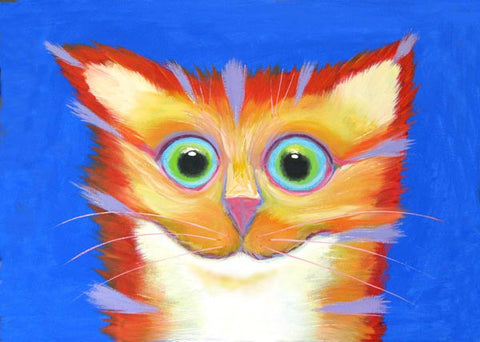 Firecracker  Signed Print of Cat Painting